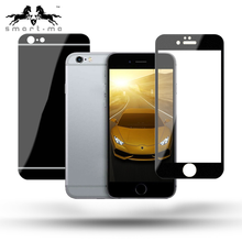 Colourful 9H Full Cover Alumiunm Alloy Metal Frame Tempered Glass Screen Protector for iPHONE 6s+