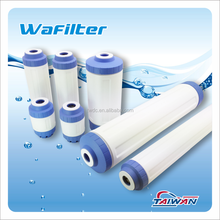 Empty canister refillable water filter cartridge for water filtration or softener