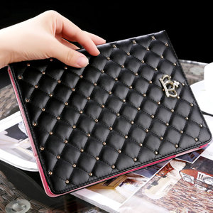 For Ipad 2 3 4 Crown Bling Leather Case Luxury Soft Leather Stand Smart Tablet Cover For Ipad Mini 4
