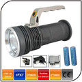 1600 lumen emergency waterproof DC charger portable led rechargeable hand lamp