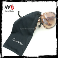 Promotional wholesale new product custom microfiber sunglass drawstring pouch bag
