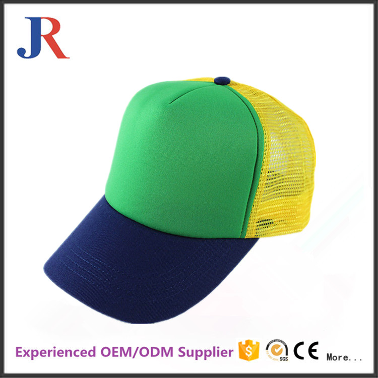 JR jiangrun chinacotton hat in China 5 panel mesh caps colorful