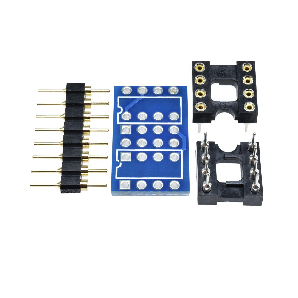 Dual DIP8 to DIP8 Mono Opamp PCB+Pin+Socket For NE5532 OPA2132 OPA627 TL072 <strong>P07</strong>