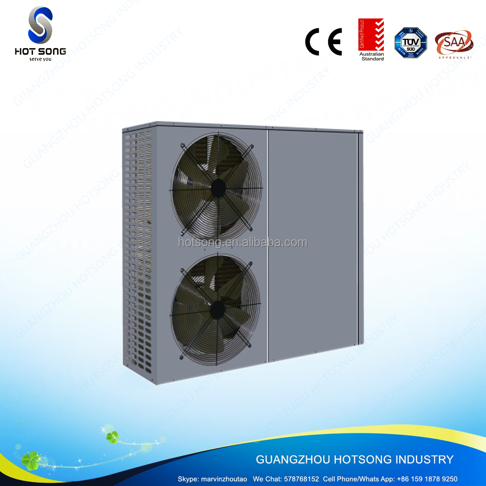 HS-46WB all in one heavy duty environmental air source heat pump 17.5kw water heater with Wilo water pump R410a