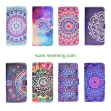 Colorful Flower Painted Magnetic Flip Wallet Leather Case For iPhone 7
