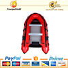 Inflatable plastic boat CE approved 3m-4m aluminum floor inflatable boat for sale