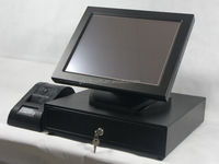 certificated 15 inch all in one pos terminal price, touch screen POS system, touch computer