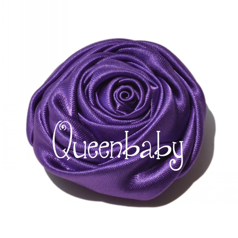 Mini Satin Rosette Flower in 9 Colors Hair accessiores