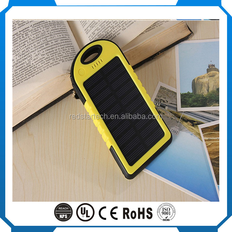 Wholesale polymer battery solar power bank 5000mah portable charger