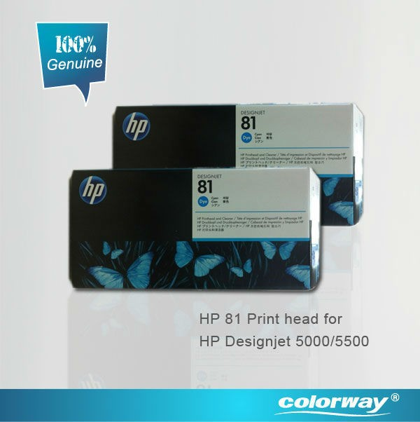 HP 81 Printhead & Cleaner for HP Designjet 5000 / 5500