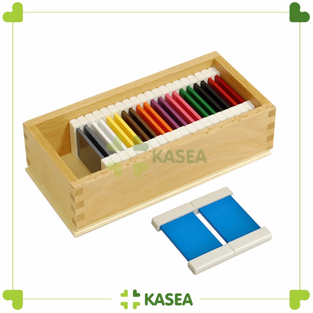 Montessori kids sensorial education toys for color tablets plastic material