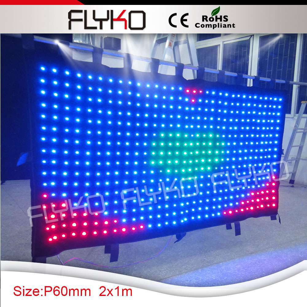 alibaba sign in led lighted stage backdrop led vision video curtain
