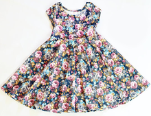 purple flower cotton spring summer girl dress from China