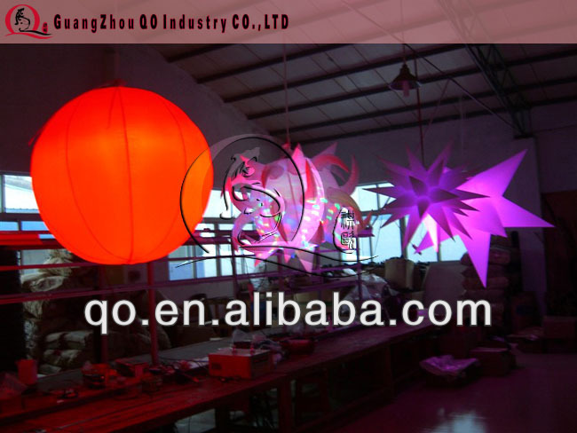party hanged inflatable LED balloon