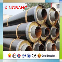 direct buried steam supply pipeline rock wool coated seamless steel pipe for steam heating supply