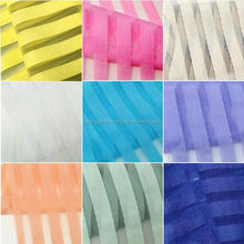 2015 popular newest design colorful stripe organza for dress