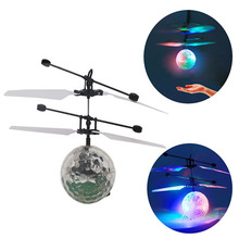 RC Music Light Toy Infrared Induction Flying Drone Helicopter LED Remote Ball Aircraft for Teenagers Children Mini Flying Ball