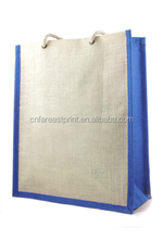Hot sale promotional jute bags with long rope handles