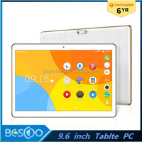 2016 HOT 3G phone call tablet 9.6 inch Google Play 1gb+16gb dual sim quad-core tablet pc