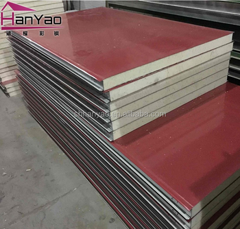 shanghai hanyao r-value pir sandwich panel acoustic metal composite board for house building