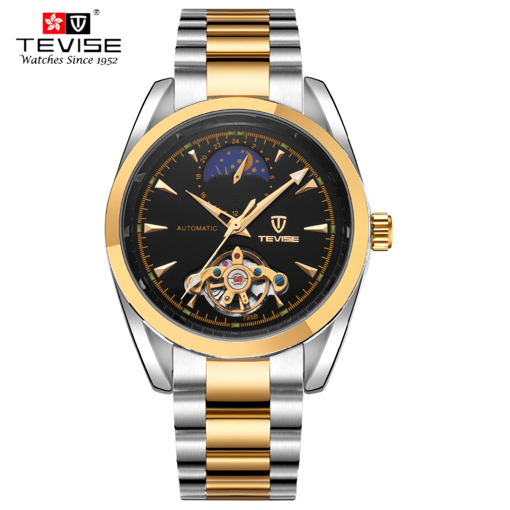 2016 hot selling <strong>Men's</strong> Luxury Stainless Steel Automatic Mechanical Wrist Watch for <strong>men</strong>