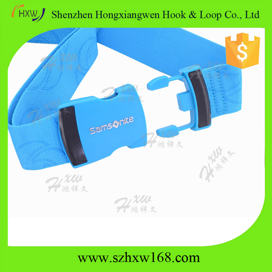 Blue Luggage suitcase strap stretchable belt lock