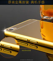Ultra Thin 24K gold Mirror Aluminum Bumper Case for Apple iphone 6 4.7 inch cover Frame Mobile Phone Bags For iphone6