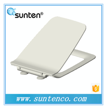 Ultra Slim Square Soft Close Toilet Seat and White Urea Material