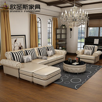 OSHINES FURNITURE factory wholesale royal furniture italian genuine corner leather sofa set 112LE