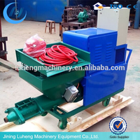 automatic plunger piston building wall sand cement mortar plaster machine/render spraying pump