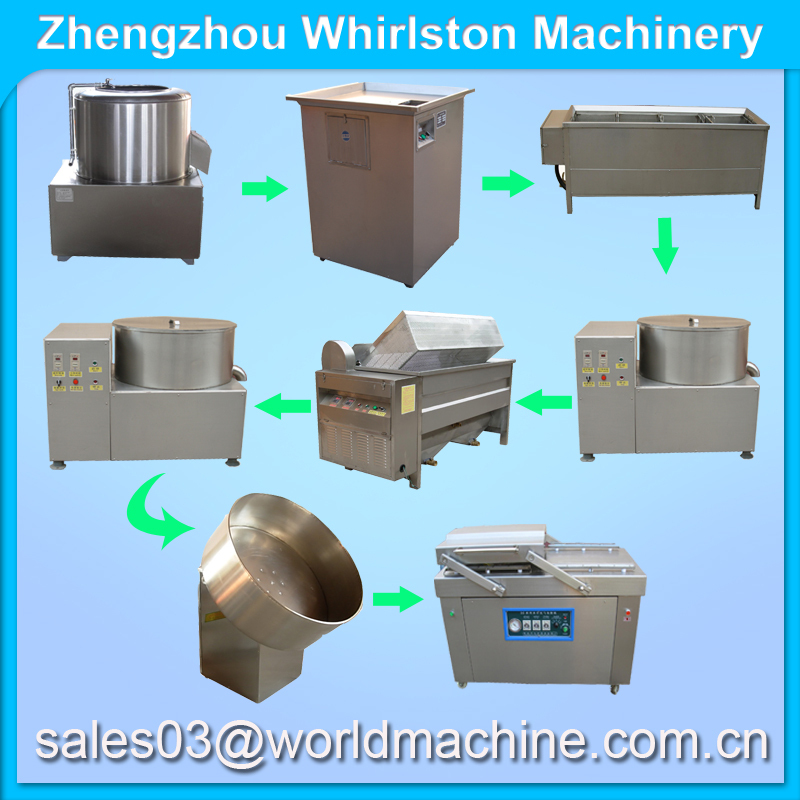 Industrial capacity Potato chips making machine