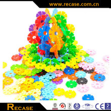 Snowflake building blocks Plastic Children Educational Toys, Snow flowers Building Block kids 3D Puzzles