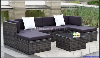 KD packing UV resistance waterproof garden rattan outdoor sofa YKD-07F