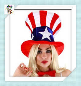 Womens Fancy Dress Party Uncle Sam Adult Hats HPC-1478