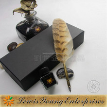 Ostrich natural feather craft 2015 quill feather pen for business gift
