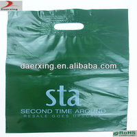 LDPE 2.5mil thickness plastic bag with patch handle