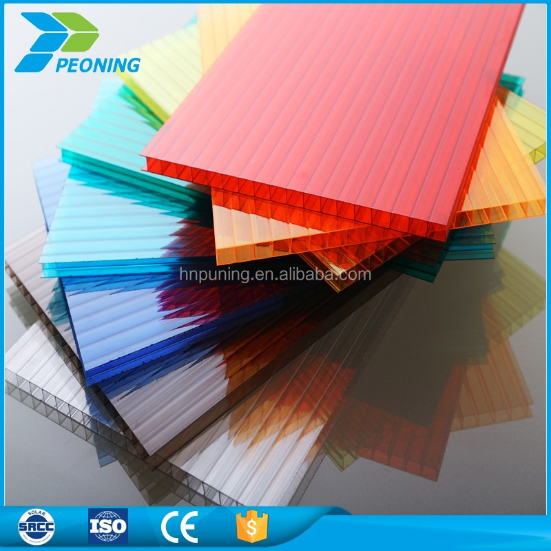 Hard plastic transparent polycarbonate types of roof covering sheets