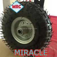 qingdao supply 350-4 rubber wheels 7 inch
