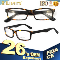 Rectangle Unisex Hand Made Optical Frames Diamond Men Women Eyeglasses Frame 44BG15005