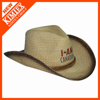 high quality wholesale cheap paper cowboy fedora straw hat