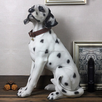 Life size polyresin animal statue figurine dog sculpture for home and garden decor