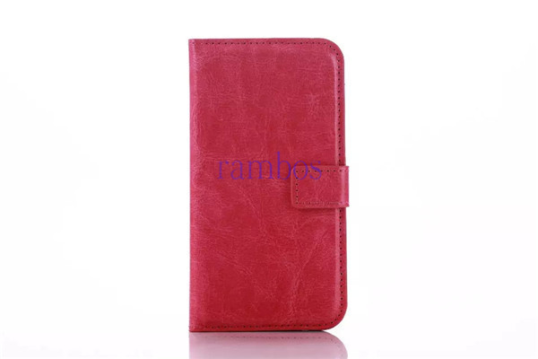 Magnetic Closure Crazy Horse PU Wallet Leather Case Cover Mobile Phone Skin for iPhone 4 5 5C 6 6 Plus