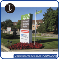 Customized outdoor standing real estate signage/directory sign board