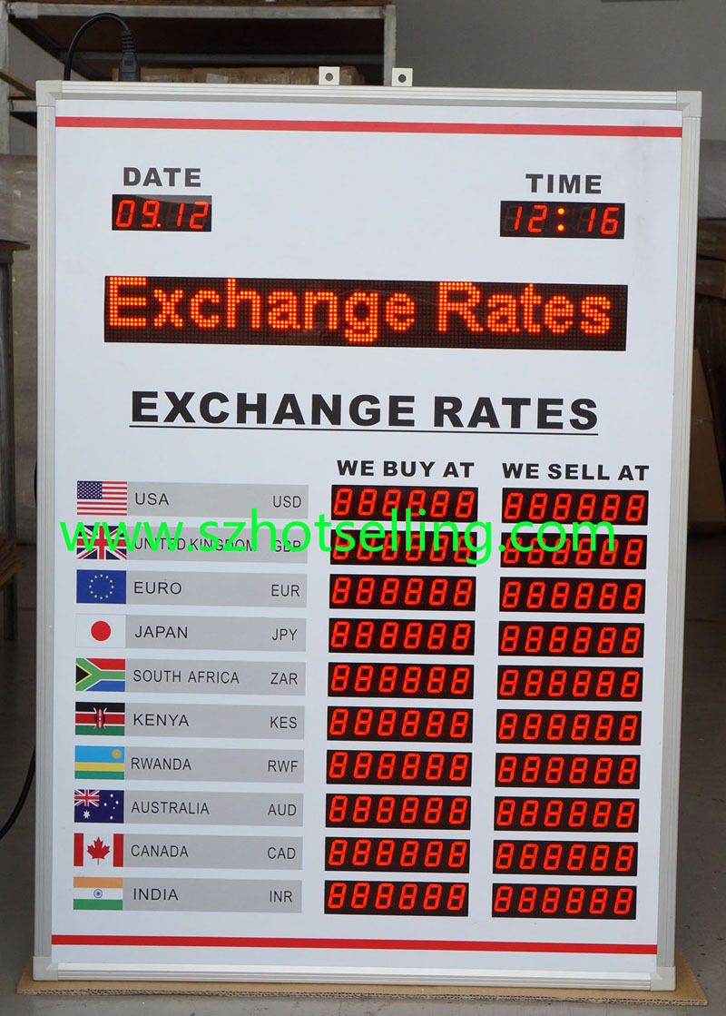 Nigeria LED Exchange rate board