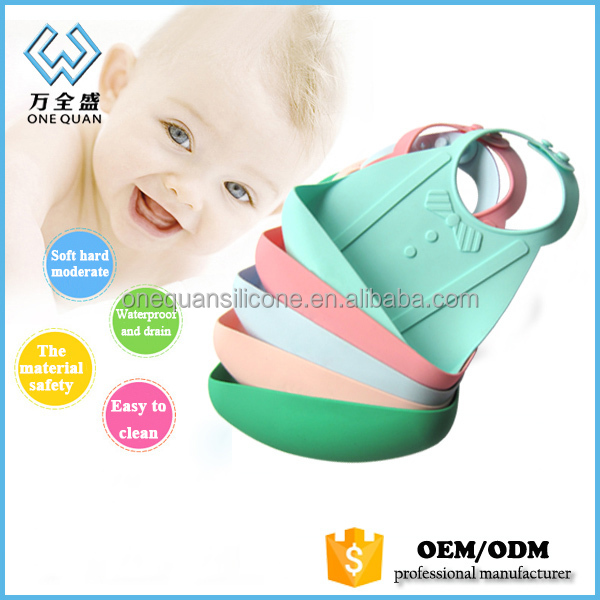 china wholesale custom food grade silicon baby bibs for kids