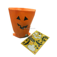 Halloween sticker decoration cheap paper treat bag
