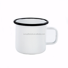 Wholesale enamel camping coffee cheap mug sublimation enamel mug