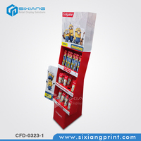 Custom Full Color Printing Retail Store Cardboard POP Display Toothbrush and Toothpaste Holder