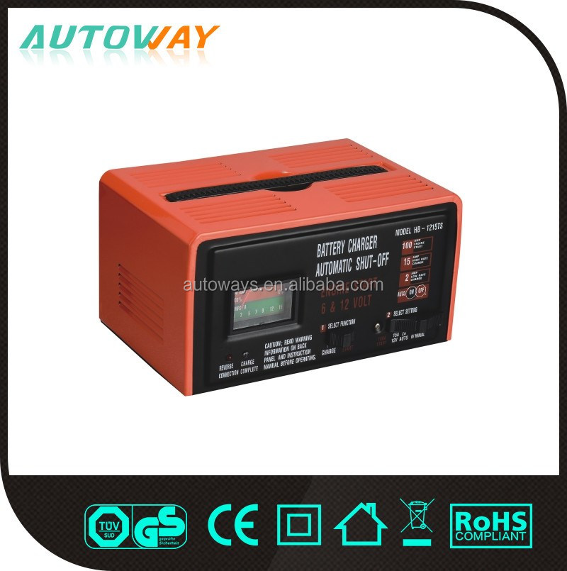 High Capacity Automatic Quick Charger For Lead-acid Battery 6V 12V 100ah 24V With Certificate CE,ROHS,GS,ISO9001