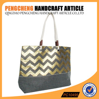 tote beach bag with polyester and paper straw shoulder bag cotton handle